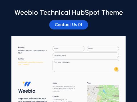 Contact Us 01 : hubspot theme