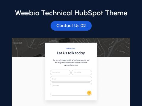 Contact Us 02 : HubSpot theme