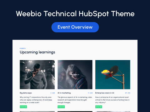 Events Overview : HubSpot theme