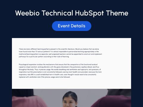 Events Details : hubspot theme