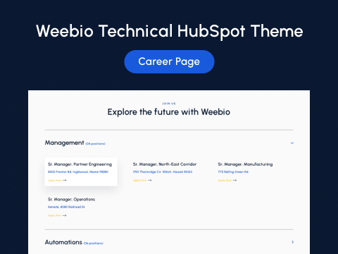 Career Page